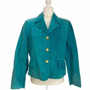 Burberry of London Turquoise Suede Jacket VTG